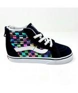 Vans Sk8 Hi Zip (Iridescent Check) Black White Baby Toddler Shoes - $41.95