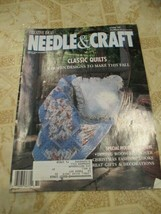 Needle and Craft Classic Quilts Magazine October 1989 - $7.79