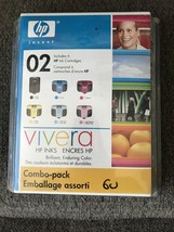 Hp 02 COMBO-PACK 6 Ink Cartridge New Sealed Package Exp Aug 2008 - $11.99