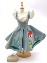 Vintage Barbie Original Friday Night Date Pinafore Dress & Underdress With Purse - $41.58