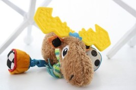 Tomy Lamaze Sensory Moose Crinkle Bells Rattle Plush Stuffed Animal Toy ... - $14.84