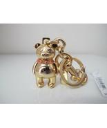 New Coach 3D Bear Metal Gold Keychain Keyring Keyfob 87166 with diamond eye - $44.43