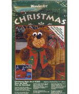 WonderArt Christmas Bear Art Kit K202 11 inch - $14.95