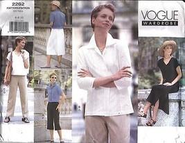 2262 Vogue Cartamodello Misses Armadio Giacca Abito Top Gonna Pantaloni Oop - $6.25