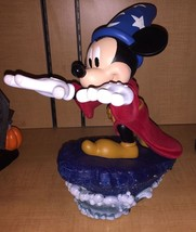 DISNEY PARKS MICKEY MOUSE AS SORCERER'S APPRENTICE LIGHT UP MEDIUM FIGUR... - $167.40