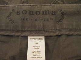 Ladies brown dress pants Size 10 by Sonoma  MJES164 - $12.32