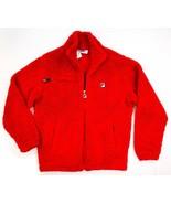 NEW $100 FILA RED SHERPA FLEECE LOGO FULL ZIP BRIDGEWATER JACKET SIZE L - $29.69