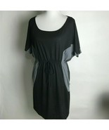Love DELIRIOUS LOS ANGELES Dress Size 1X 2X 3X Gray Black Red Short Sleeves - $19.99