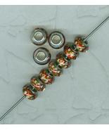 25 Murano Style Santa Claus Lampwork Charm Beads Jewelry Made In China - $18.00