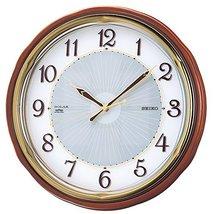 Seiko Clock Clock Wall Clock Solar Radio Clock Twin -Pas SF221B - $394.00