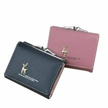 Purse Pocket Clutch Women Short Faux Leather Wallet Card Coin Holder  - $9.99