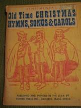 Original Vintage 1968 SENTIMENTAL OLD TIME CHRISTMAS Voice Song Book 184... - $11.57