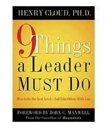 [ [ [ 9 Things a Leader Must Do [ 9 THINGS A LEADER MUST DO ] By Cloud, ... - $12.84