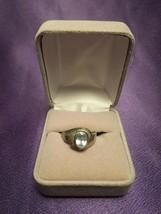 Sterling Silver 925 Blue Topaz Ring Size 7.75 Oval Cut Gemstone Fine Jew... - $44.55