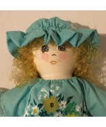 Handmade Cloth Rag Doll Vintage Stuffed Wall Hanging Decor Homemade Pain... - $29.99
