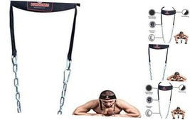 Adjustable Head Neck Harness Training Exercise Gym Weight Lifting Black - $21.29
