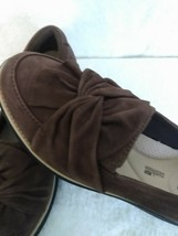 Clarks Artisan Women's Brown Leather Slip On Wedge Loafer Shoes Size 7 M - $18.91