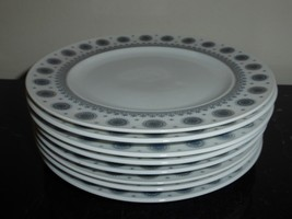 ROSENTHAL TAPIO WIRKKALA ICE BLOSSOM 1960S BREAD AND BUTTER PLATES SET OF 8 - $175.00