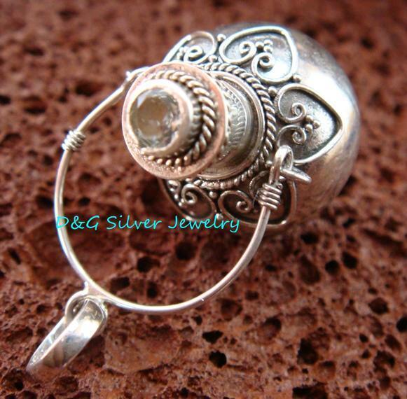 925 Sterling Silver Cremation, Keepsake Pendant w/Gem PP-402-DG