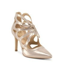 Vince Camuto Champagne Made in Brazil Leather Dress Heels Size 7 - €56,62 EUR
