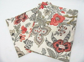 Pottery Barn Allegra Palampore Floral Linen Blend Standard Shams (Set of 2) - $72.00