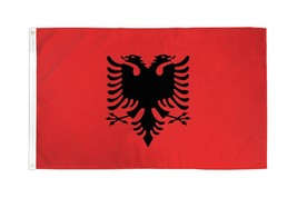 "ALBANIA 3X5' FLAG NEW 3'X5' 3 X 5 FEET 36X60"" BIG - $9.85"