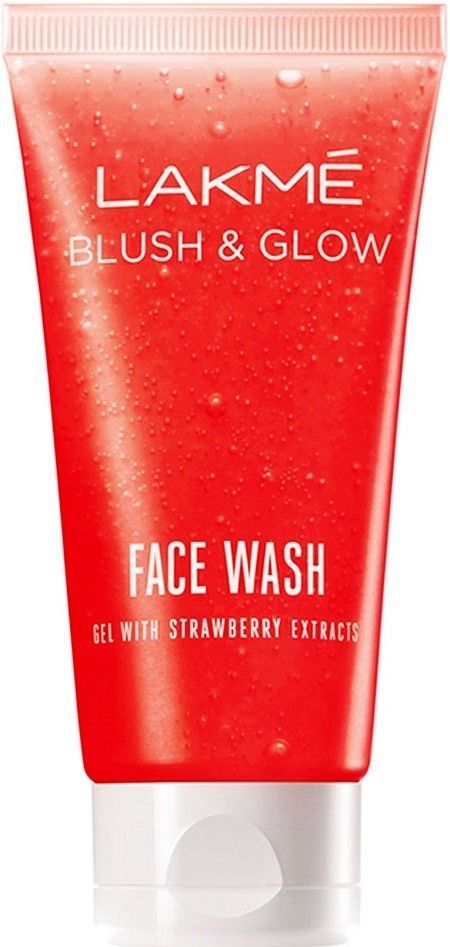 Lakme Blush & Glow Face Wash  100 GM Gel With Strawberry Extracts
