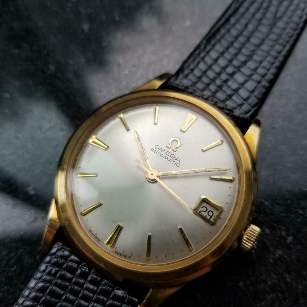 Primary image for Men's Omega 10k Gold-Capped Date Automatic cal.560 c.1964 Swiss Vintage LV400BLK