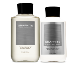 BATH & BODY WORKS Graphite Body Lotion + 2-In-1 Hair + Body Wash Set For... - £20.43 GBP