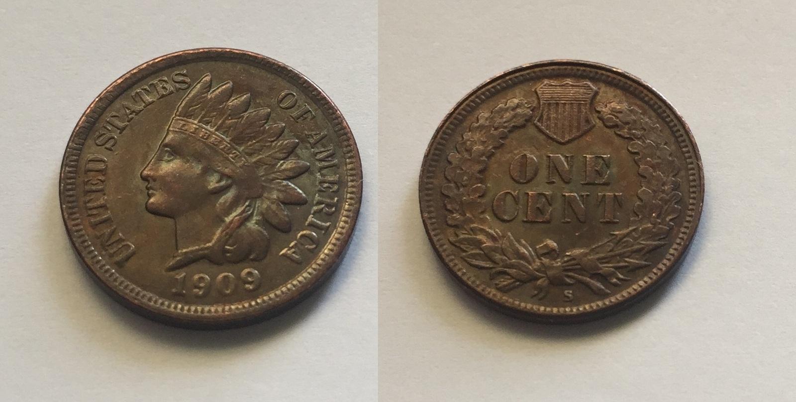 Indian Head Cent 1909 S Fantasy Souvenir Token - $19.99