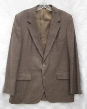 LANVIN PARIS NEW YORK JACKET 42 LONG VINTAGE SPORT COAT WOVEN SILK TWEED... - $23.74