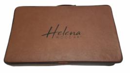 """Luxury Helena Wood Art Handmade Genius Backgammon Set w/ Case Large 23"""" x 15"""" image 3"""