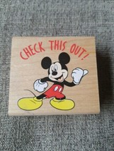 Rubber Stampede Disney Mickey Mouse Check This Out Stamp A1707E - $5.63