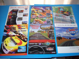 Lot Of (6) ORIGINAL NOS VIDEO ARCADE GAME FLYERS CRUIS'N USA DATONA USA ... - $15.14