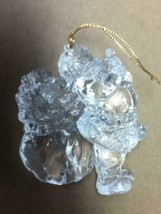 Vintage, Christmas Crystal-Like Santa Ornament, 5in x 4in Santa - $3.75
