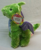 "Melissa And Doug Shiny Green & Purple Zephyr Dragon 10"" Plush Stuffed Animal New - $24.74"