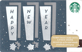 Starbucks 2015 Happy New Year Taps Collectible Gift Card New No Value - $4.99