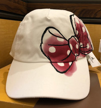 Disney Parks Minnie Mouse Bow and Signature Adjustable Hat Cap New - $38.78