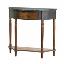Wood Half-moon Hall Table - $177.88