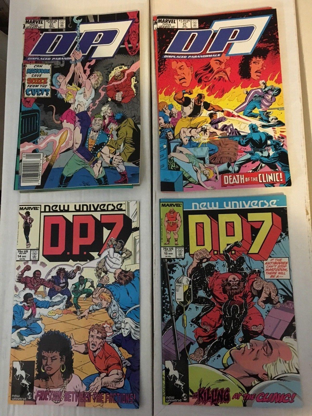 D.P. 7 1 - 32 New Universe Marvel Comic Book COMPLETE SET 33 Comics 1986-89 VF+