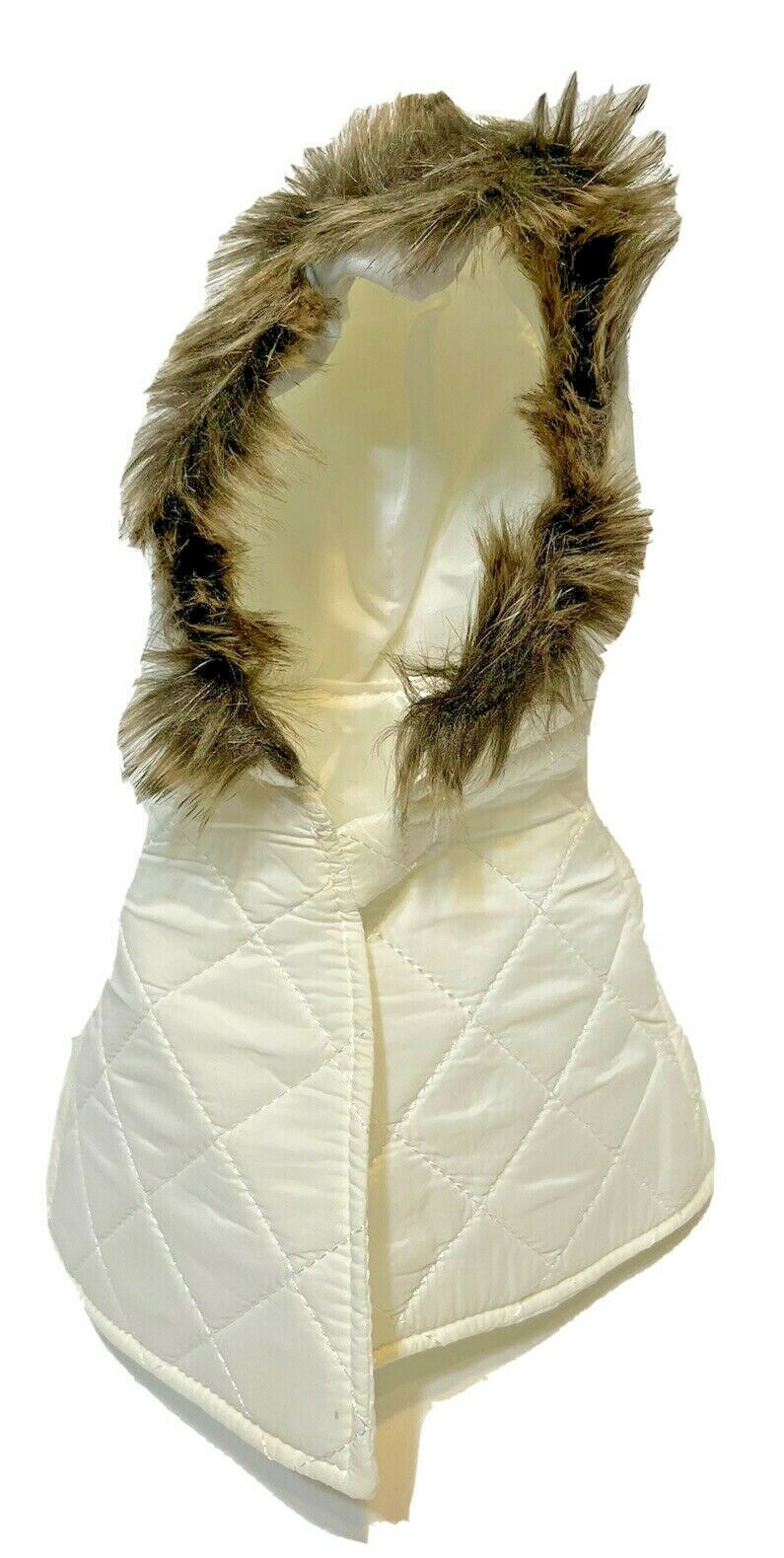 Scentsy Buddies Accessories Winter Jacket Vest Cream with Fur Lined Hood - $12.60