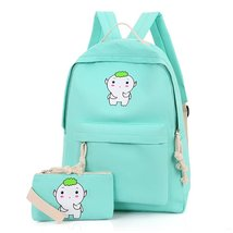 Samaz Casual Canvas School Backpack Children Kids Schoolbag Book Bag Rucksack - $24.99