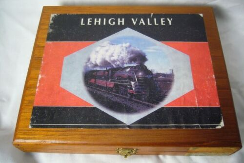 Lehigh Valley RR Made In Jamaica Wood Cigar Box