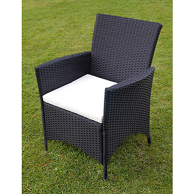 Garden Rattan Dining Set 8 Seats Cushions Chairs Glass Top Table Patio Furniture image 2
