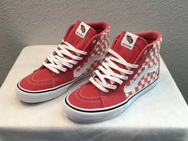 New Men's Vans SK8-HI Pro Checkerboard Shoes ~Desert Rose~Men's Size 11 - $69.00