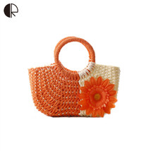 Beach bags Cute Straw weave Wove Tote - $39.99