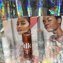 NWOB MILK Glimmer (Full Sz)Lip And Cheek Glow Oil Werk + Turnt Highlighter Stick