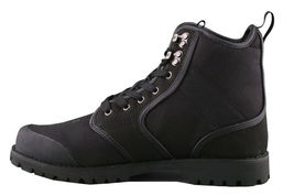 LRG Sycamore Black Leather Nylon Combat Hiking Boots 8 US image 4