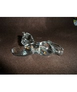 "crystal Laying cat paper weight 6"" x 2.5"" - $18.00"