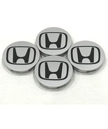 "4pc Honda Center Caps SILVER BLACK 2.75"" / 69MM CRV Civic Fit Pilot Acco... - $18.79"